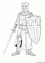coloring page knight crusade