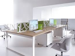Steel Frame Desk Easy Clean Steel Frame L Shaped Desk Cheap Work Station Patitions