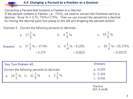 objective a writing percents as fractions ppt video online