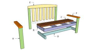 Bench Construction Plans Bench Free Garden Plans Howtospecialist How To Build Step Intended
