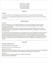 Entry Level Accounting Job Resume by 33 Accountant Resume Samples