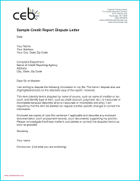 Dispute Letter For Experian best of credit report dispute letter template inspirational