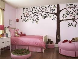 pink and green bedroom ideas stunning tree wall mural