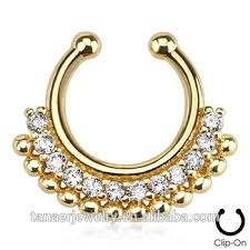 gold piercing rings images Fashion body piercing jewelry indian gold nose studs opal septum jpg