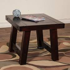 Rustic Mahogany Coffee Table Shop Designs Vineyard Rustic Mahogany End Table At Lowes