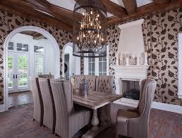 Birdcage Chandeliers Eclectic Dining Room With Chandelier U0026 Brick Floors In Windermere