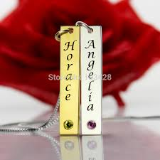 Personalized Name Necklace Sterling Silver Aliexpress Com Buy Personalized Couple Name Necklace Sterling
