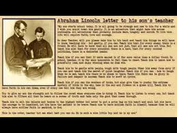 biography of abraham lincoln in english pdf a letter from abraham lincoln to his son s teacher youtube