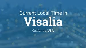 Time Zone Maps Usa by Current Local Time In Visalia California Usa