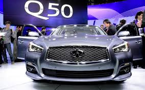 nissan maxima vs infiniti q50 first look 2014 infiniti q50 automobile magazine