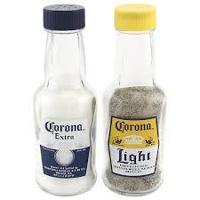 Corona Light Cans Miniature Corona Bottle Salt And Pepper Shakers Glass