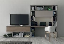 meuble bibliothèque bureau intégré bureau avec bibliothèque intégrée l10a colombini casa