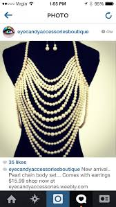 Draped Body Chain To Die For Chic Huge Cascading Pearl Multi Layer Draped Body Chain