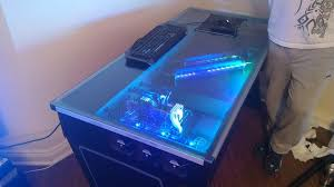 Pc Gaming Desk by Amazing U20ac6000 Gaming Desk Pc Build Pt 2 Youtube