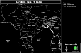 Map Of Northern India by Su India E Islam