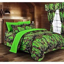 green bed set regal comfort 8pc queen size woods biohazard green comforter set
