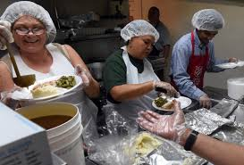 pomona salvation army provides thanksgiving dinner with a