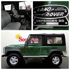 new land rover defender interior for sale 1995 land rover defender 90 soft top coniston green over