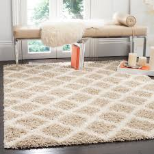 safavieh dallas shag ivory dark gray 6 ft x 6 ft square area rug