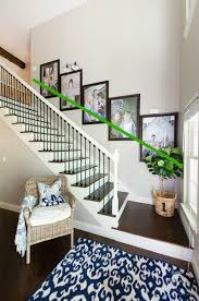 Hanging Pictures Without Frames How To Create A Stairway Picture Wall