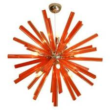 Orange Glass Chandelier Traditional Venetian Chandelier With Modern Contemporary Touch 8