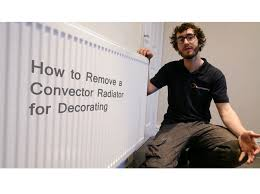 how to remove a convector radiator for decorating youtube