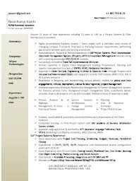 Project Resume Pavan Kanchi Sap Ps Pm Consultant Resume