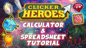 Spreadsheet Tutorial Clicker Heroes Ancient Calculator Outsider Spreadsheet Tutorial