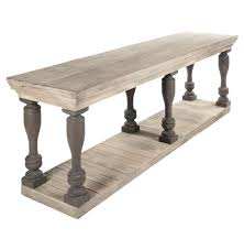 French Country Outdoor Furniture by Bartow Masculine French Country Rustic Baluster Long Console Table