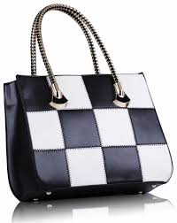 Black And White Checkered Wholesale Black And White Checkered Grab Shoulder Bag