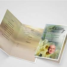 Funeral Program Printing Services Cloud Cover Funeral Program Template Funeral Templates Funeral