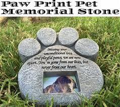 pet memorial stones paw print pet memorial features a photo