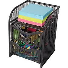 Staples Desk Organizers Staples All In One Black Wire Mesh Desk Organizer Staples