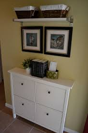 Small Bench With Shoe Storage by Swanky Ikea Shoe Storage Bench Design Made From Wood Material With