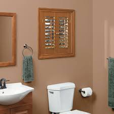 Interior Shutters Home Depot by Homebasics Plantation Faux Wood Oak Interior Shutter Price Varies