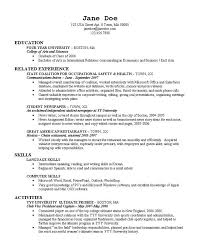 Occupational Health And Safety Resume Examples by Resume Copy Resume Characterworld Co