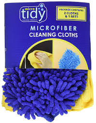 amazon com microtidy microfiber mitt and towel set cleaning