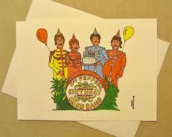 beatles birthday etsy