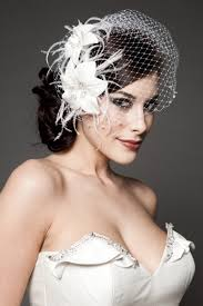 wedding hair pieces netted viel smaller flowers wedding hair and make up