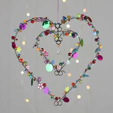 Stunning Beads And Sequins Star And Hearts Craft Wire Crafts