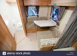 a caravan interior at the caravan and motor home show at event