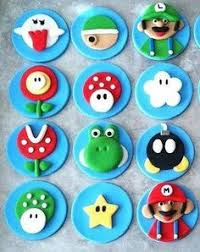 mario cake toppers mario cupcake toppers braycin bday