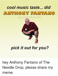 Anthony Meme - cool music taste did pick it out for you hey anthony fantano of