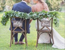 wedding chair signs wedding chair signs custom lettered wedding chair signs