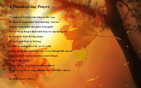 thanksgiving prayer appreciate bounty pray for less fortunate