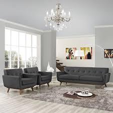 3 piece sofa set engage 3 piece sofa set in gray eei 1345 dor modway furniture
