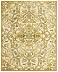 Blue And Gold Rug Ankara Collection Multi Textured Art Silk Area Rug In Cream And