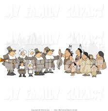 on thanksgiving day clip art of a unpredictable group of pilgrims offering a dead