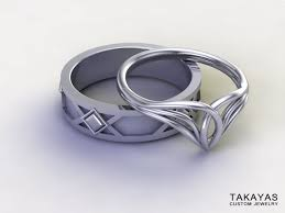 lord of the rings wedding band lord of the rings inspired elven wedding ring set takayas custom