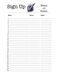 free printable sign up sheets sign up sheets potluck sign up